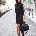 kışlık siyah elbise modelleri 2019 2020