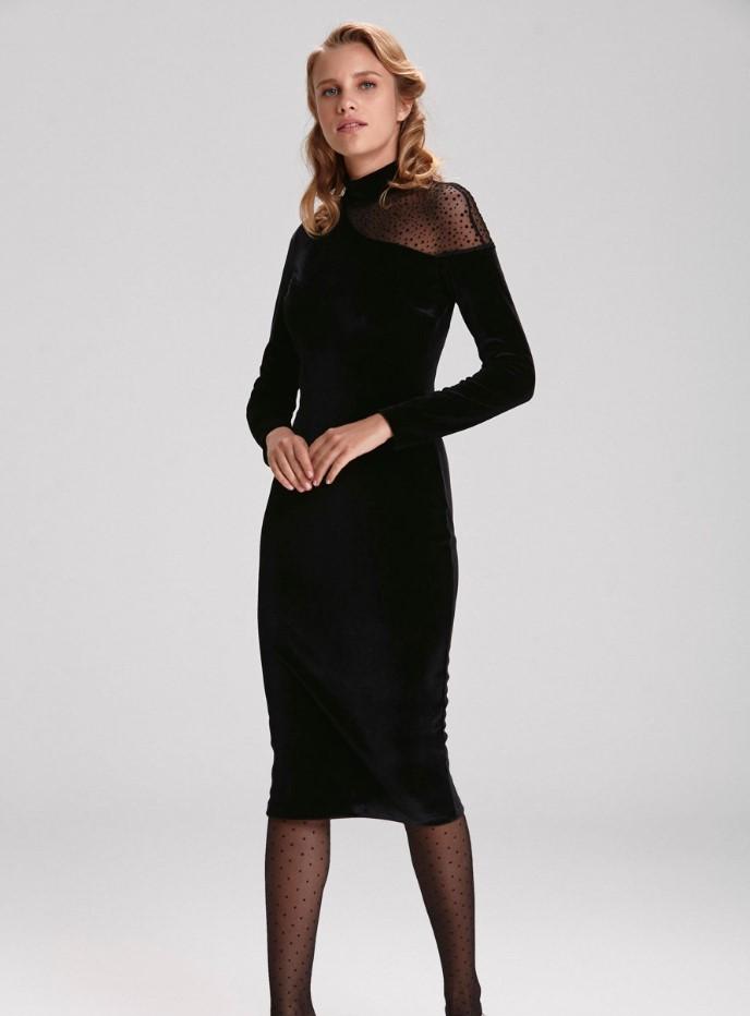 Mert Aslan imzalı kadife gece elbisesi fiyatı 279,90 TL