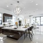 Modern beyaz mutfak adası modelleri 2019