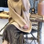 parlak pileli etekler 2019 kış modası