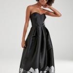 Straplez desenli gece elbisesi fiyatı 499,90 TL