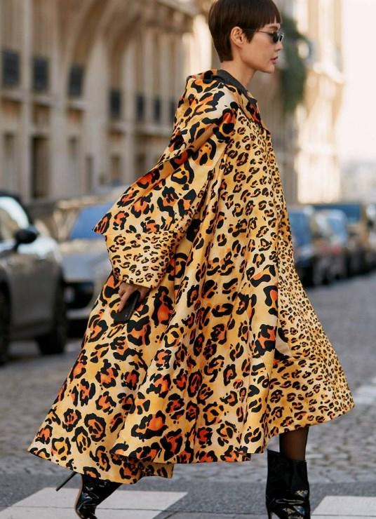 2019 İlkbahar Sokak Modası Leopar Ceket