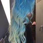 2019 pastel mavi saç renkleri