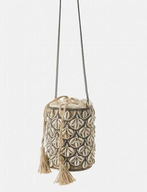 Zara deniz kabuklu çanta modelleri 2019