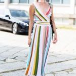 ilkbahar yaz 2019 çizgili elbise trendleri