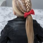 kız çocuk 23 nisan saç modelleri 2019