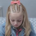 kız çocuk yarım topuz modelleri 2019