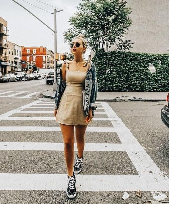 kot ceket ile yazlık elbise kombinleri 2019