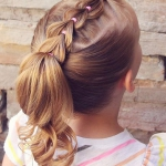 küçük kızlar için bayram saç modelleri 2019