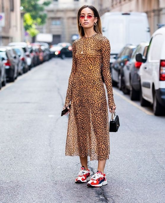 leopar desen elbise trendleri 2019 20