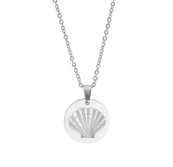 midye kabuklu gümüş kolye modeli