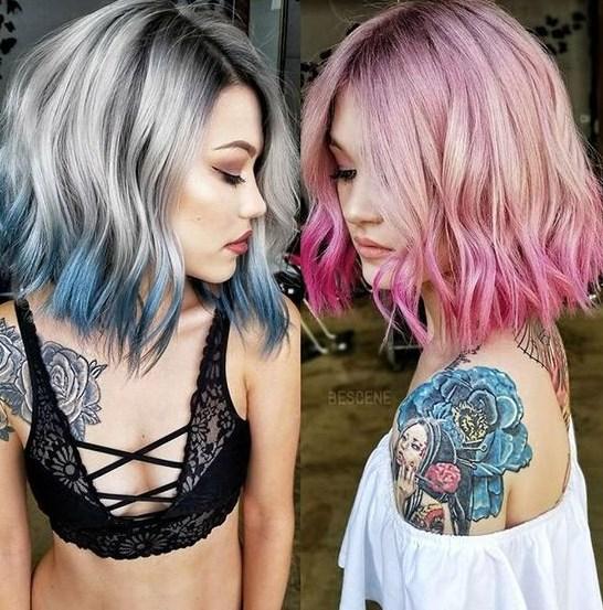 Orta uzunlukta saçlar için trend 2019 saç modelleri