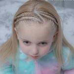 özel günler için kız çocuk örgü saç modelleri
