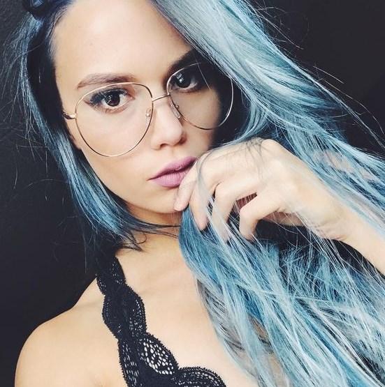 pastel mavi saç modelleri 2019