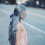 pastel mavi saç rengi trendleri 2019