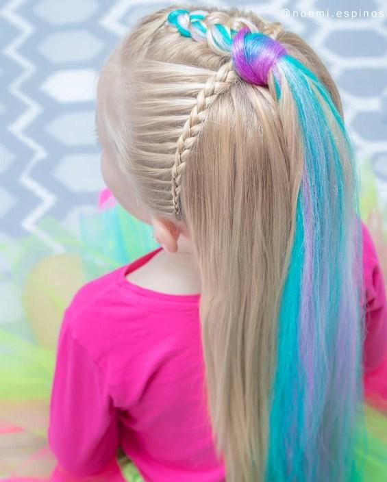 renkli kız çocuk saç modelleri 2019 2020