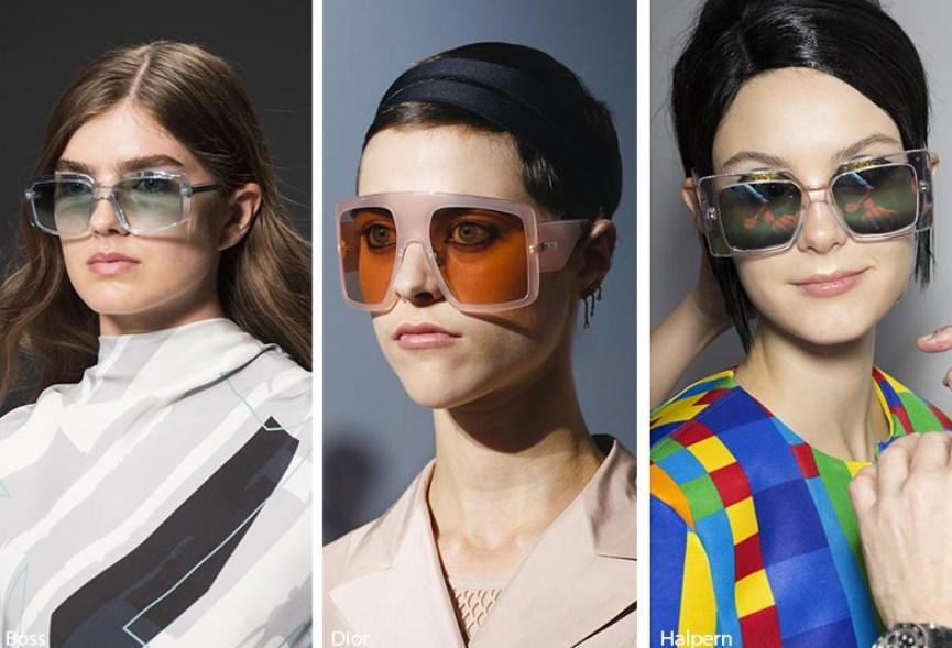 2019 ilkbahar yaz büyük kare güneş gözlükleri