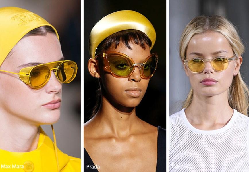 2019 ilkbahar yaz sarı güneş gözlüğü modelleri