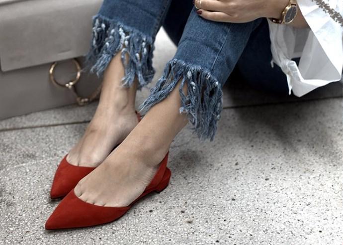 arkası açık düz sivri burun ayakkabılar 2019