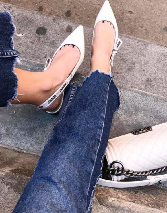 arkası açık sivri burun düz ayakkabı modelleri 2019