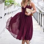 bordo abiye elbise modeli 2019 yaz