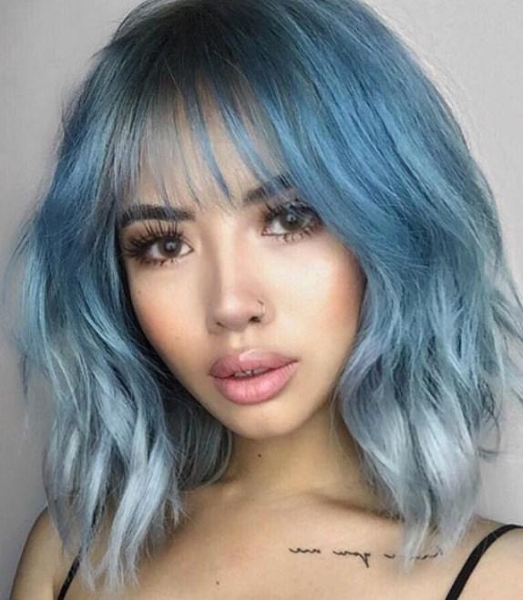 buz mavi saç renkleri 2019