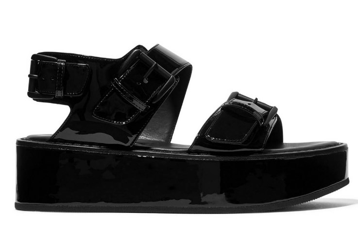 deri siyah sandalet modelleri 2019 2020