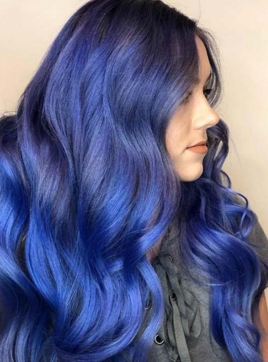 gece mavisi saç renkleri 2019