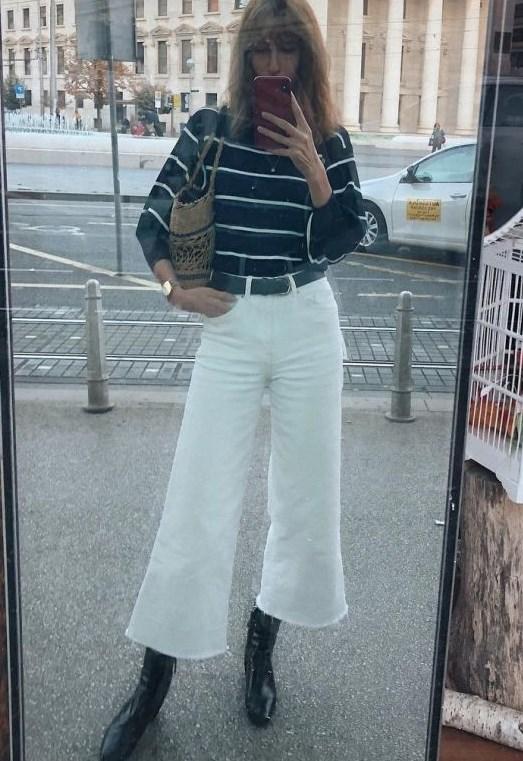 geniş paça yüksek bel bilek boy kot pantolonlar 2019