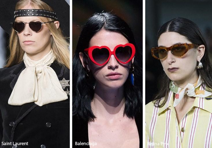 ilkbahar yaz 2019 kalpli çerçeveli güneş gözlükleri