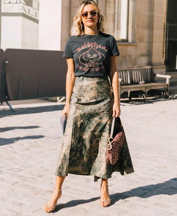 ilkbahar yaz 2019 sokak modasında etekler