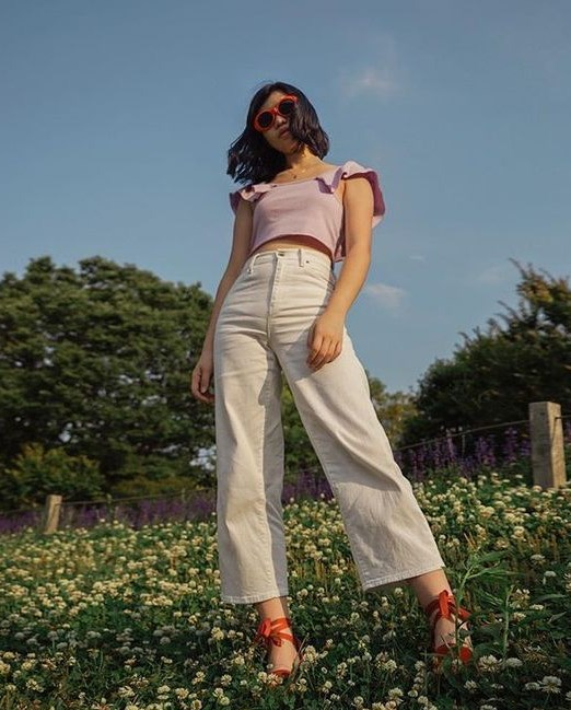 ispanyol paça beyaz kot pantolon 2019