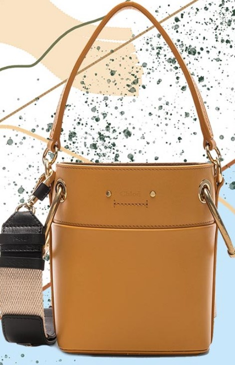 Kanvas askılı kova çanta