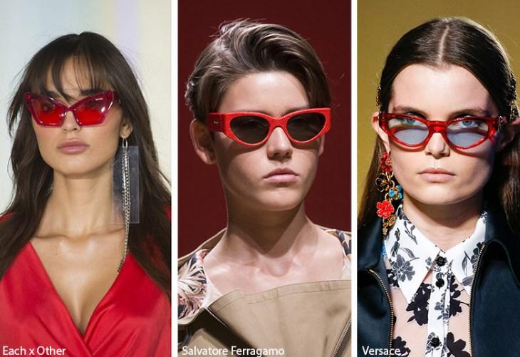 kırmızı çerçeveli güneş gözlükleri 2020