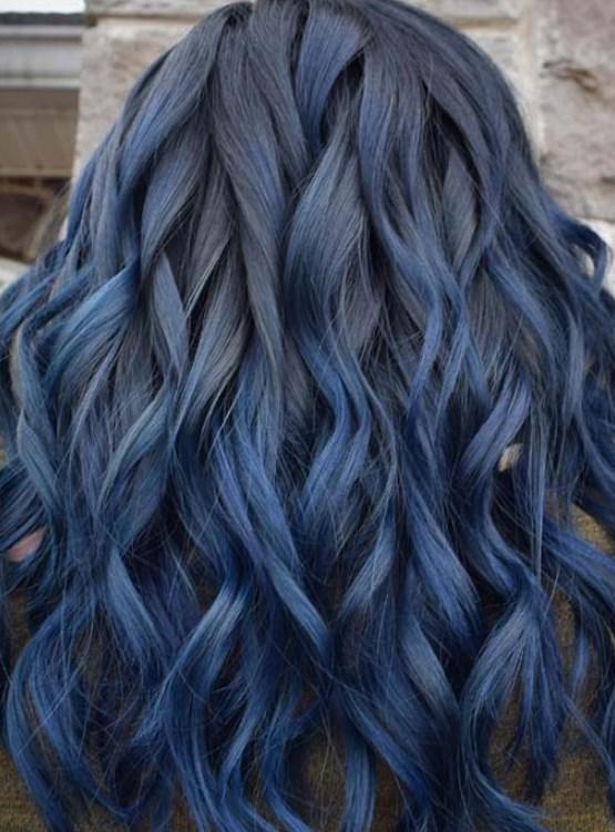 koyu denim mavisi saç renkleri 2019