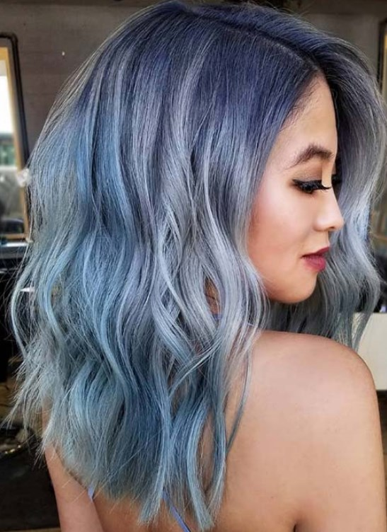 küllü gri mavi saç rengi