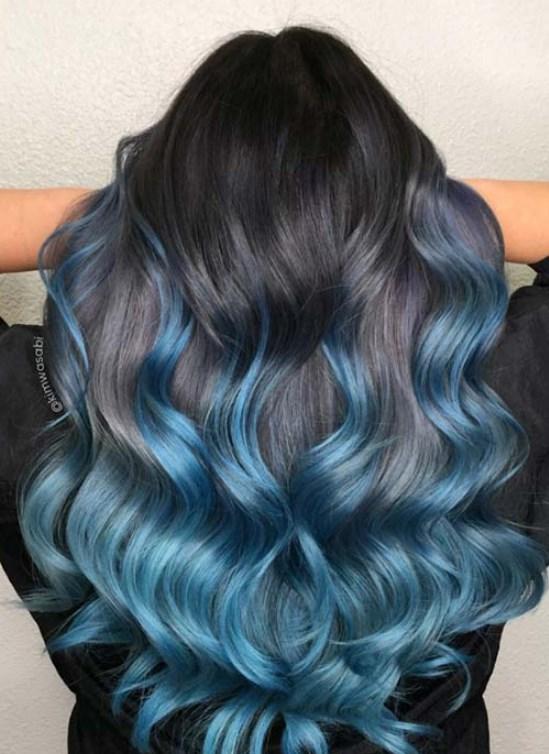 küllü mavi saç renkleri 2019