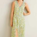 mango çiçek desenli yazlık elbise modeli 2019