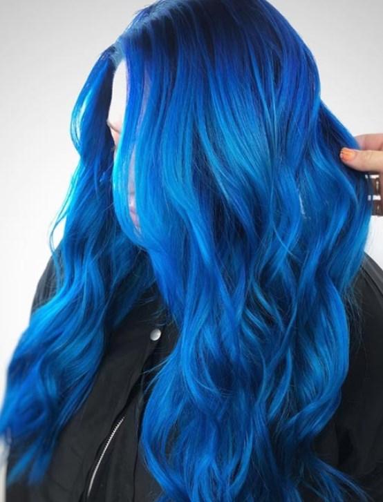 mavi saç rengi evde nasıl elde edilir 2019
