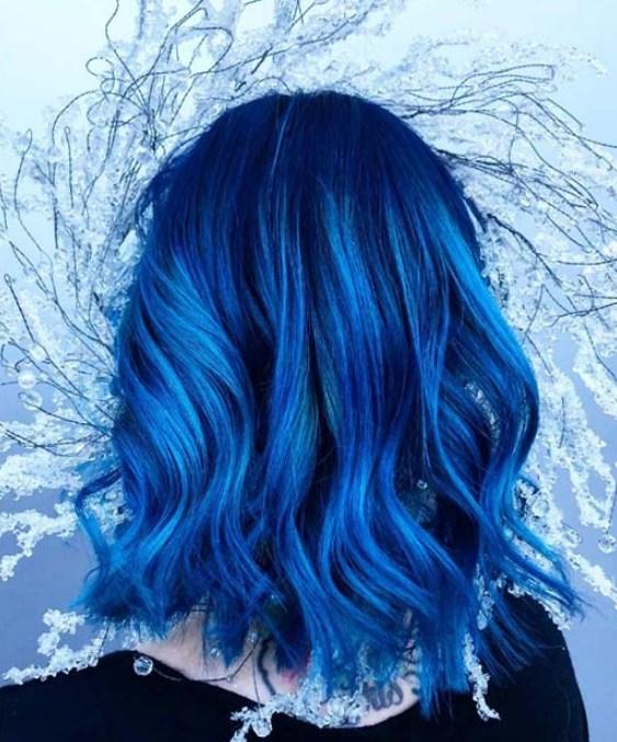 mavi saç renkleri 2019