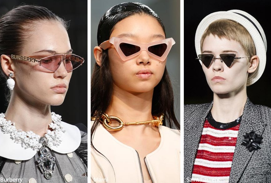 üçgen şekilli güneş gözlükleri 2019 2020