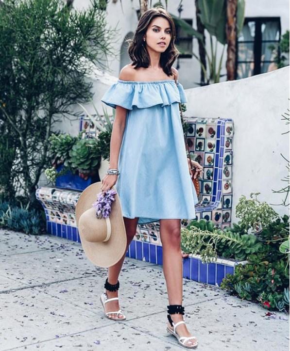 yazlık düz sandaletler nasıl giyilir 2019