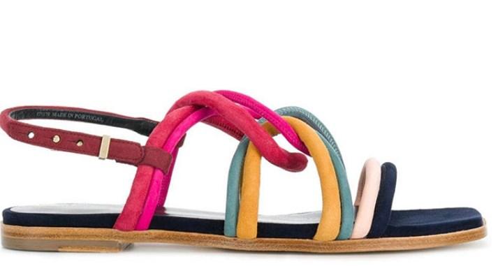 yazlık renkli düz sandalet modeli 2019 2020