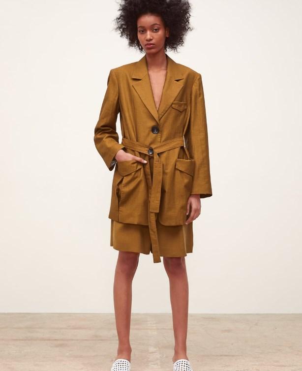 Zara 2019 İlkbahar Yaz Kemerli Blazer Ceket