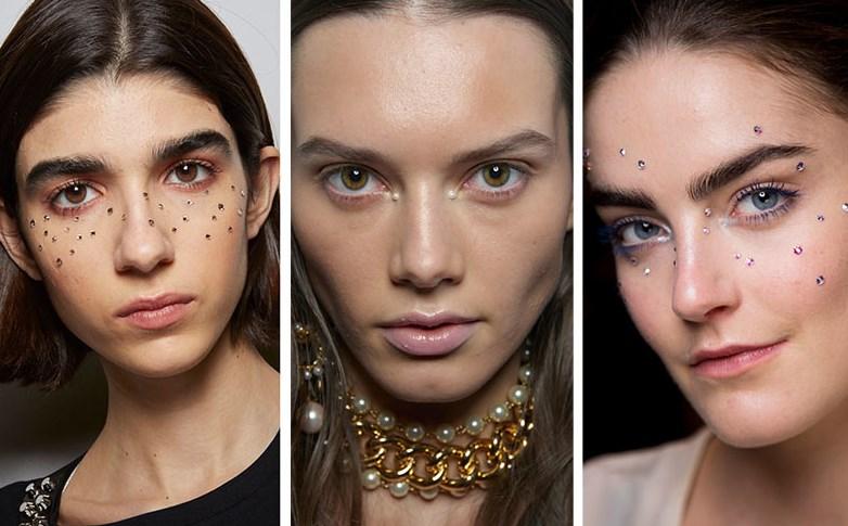 2020 makyaj trendleri yüz aplikleri