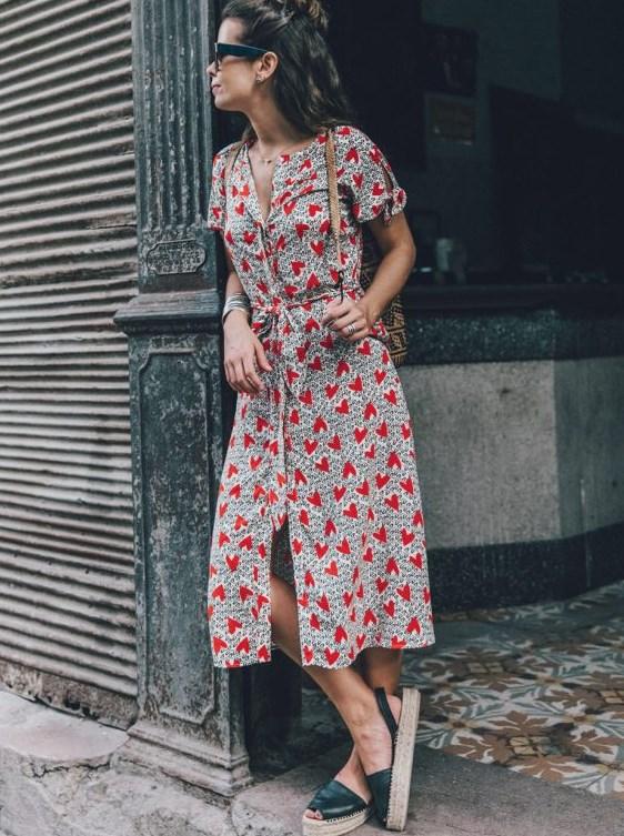 çiçek desenli yazlık günlük elbise 2019