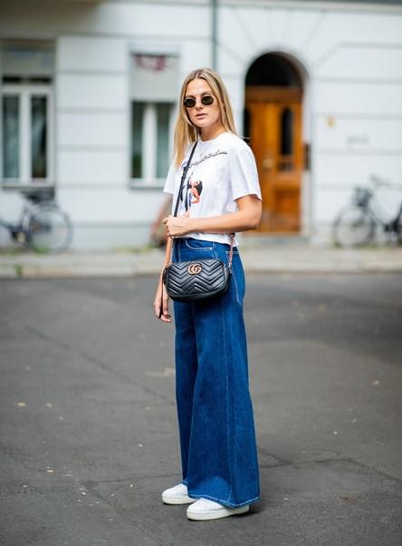 Geniş Paçalı Retro Kot Pantolon Şimdi Moda