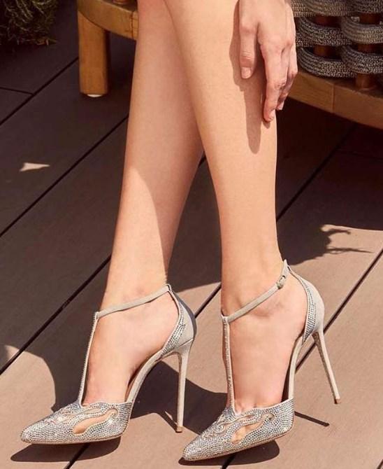 gümüş topuklu balo ayakkabı modelleri 2019