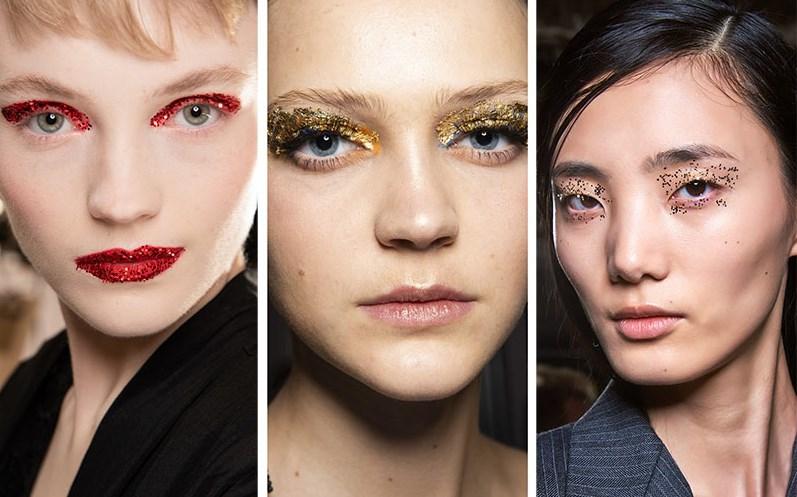ışıltılı göz makyajı trendleri 2019 2020