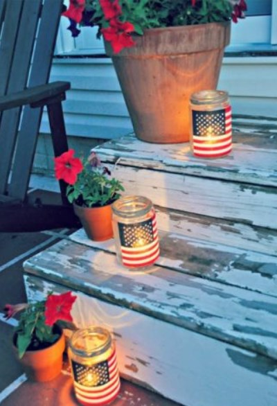 kavonozlarla bahçe aydınlatma fikirleri